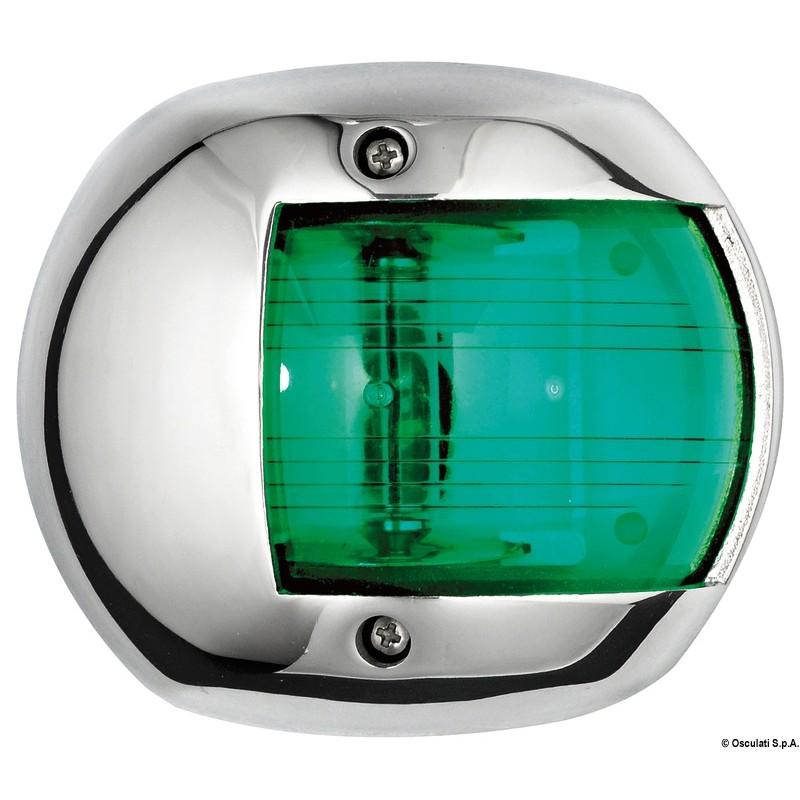 Светлина навигационна inox 12V 10W-Зелена светлина