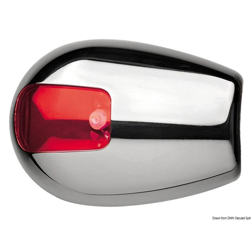 Светлини навигационни 1xLED 12V inox - Червена