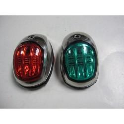 Светлини навигационни чифт LED 12V inox