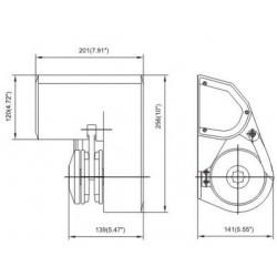 Хоризонтален котвен шпил 12V 600/900W-за лодки: 6-9м/8-12м 2