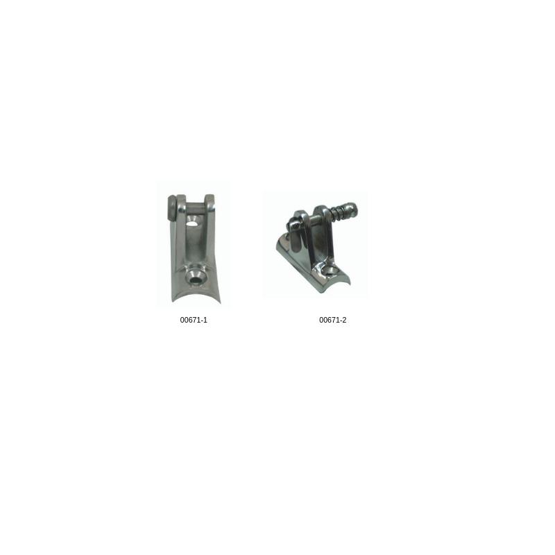 Основа за тента овална inox 316 - С болт