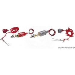 Стоп-ключ 12V 15A - червен/сив
