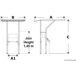 Рамка за оборудване (T- топ) алуминий 32мм 4