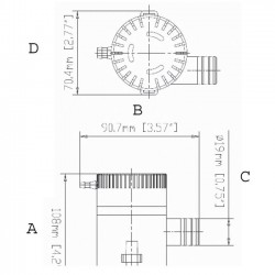 Помпа за изпомпване на трюмна вода 500-3500GPH 12/24V Китай 2