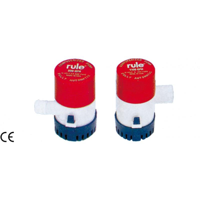 Помпа за изпомпване на трюмна вода RULE автоматична 12V 500/1100GPH