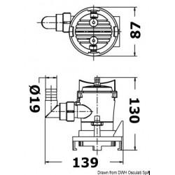 Помпа за рибен резервоар 12V 38л/мин 2