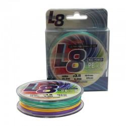 Плетено влакно модел Lazer PE L8 Multicolour - 150м