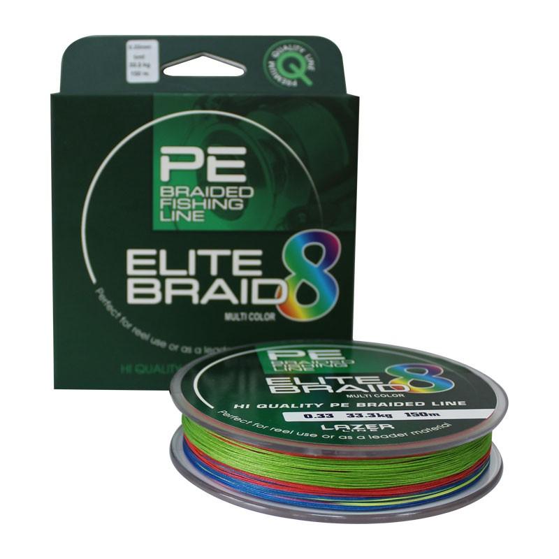 Плетено влакно модел Elite 8 Braid Multi Color - 150м