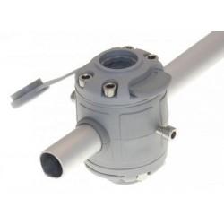 FASTen Комплект за тръбен монтаж с 2 универсални гнезда FMr225 - сиво