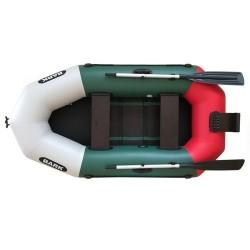 Надуваема Bark B-230CN ,двуместна гребна лодка оребрено твърдо дъно,транцева дъска, зелена