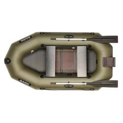 Надуваема лодка Bark B-250CND ,двуместна гребна с оребрено дъно и транцева дъска