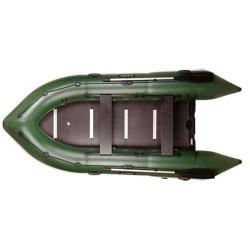 Надуваема лодка Bark BN-390S,шестместна,остроноса моторна с надуваем кил и твърдо дъно, буртик,стационарна транцева дъска