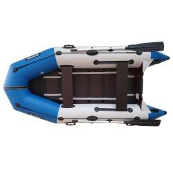 Надуваема Bark BT-310 триместна моторна лодка оребрено дъно, буртик,стационарна транцева дъска,св.сива