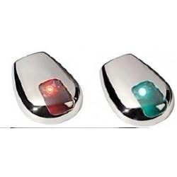 Светлини навигационни 1xLED 12V inox - Червена 2