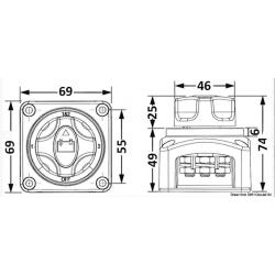 Ключ маса един акумулатор 12/24V, 300/500A 2